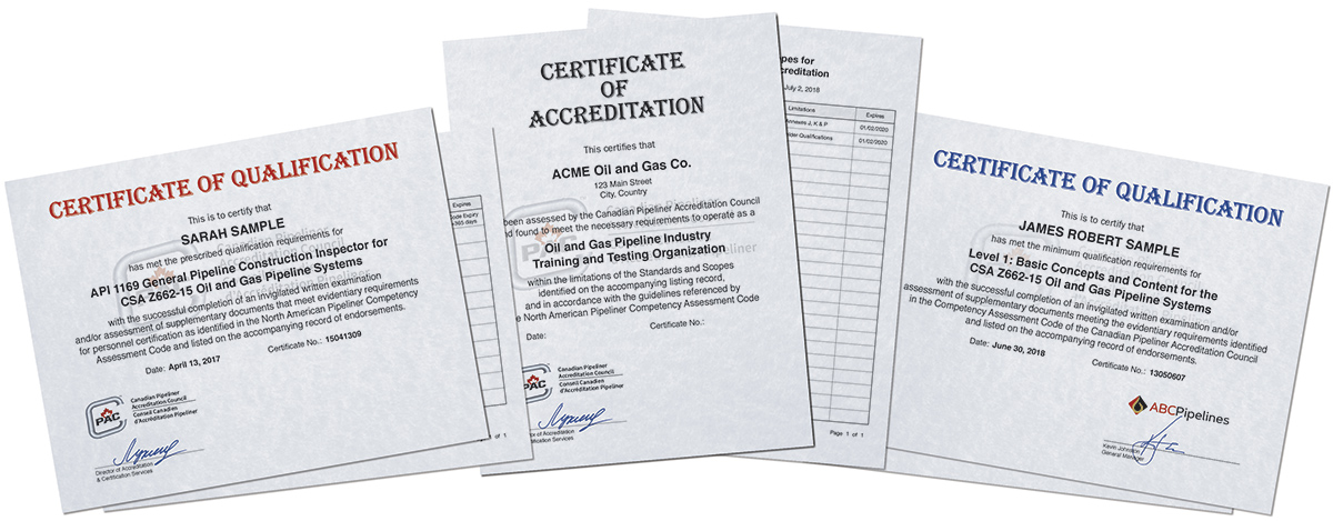 Pipeline Accreditation Canada and United States